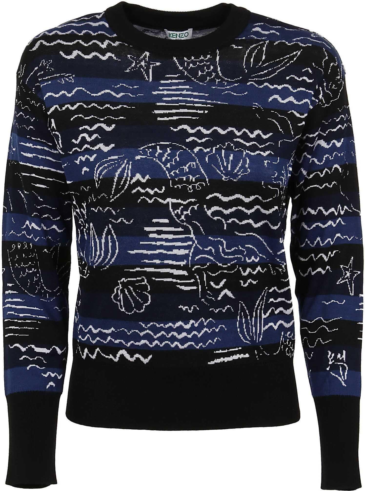 Kenzo Cotton Sweater BLUE