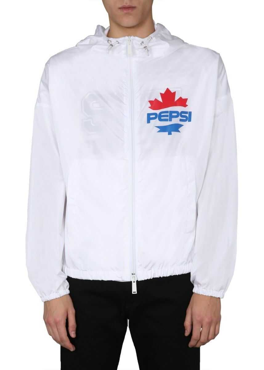 DSQUARED2 Polyamide Outerwear Jacket WHITE