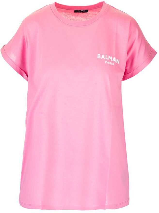 Balmain Cotton T-Shirt PINK