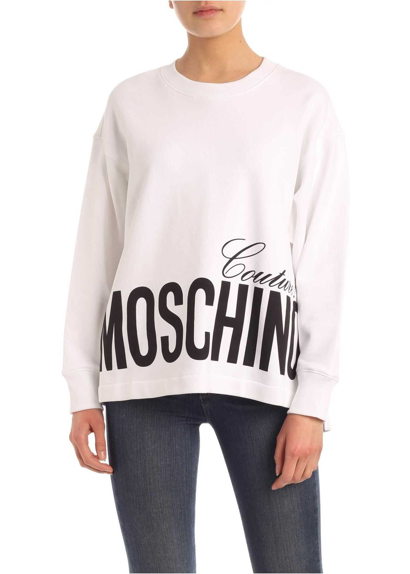 Moschino Moschino Couture Print Sweatshirt In White White