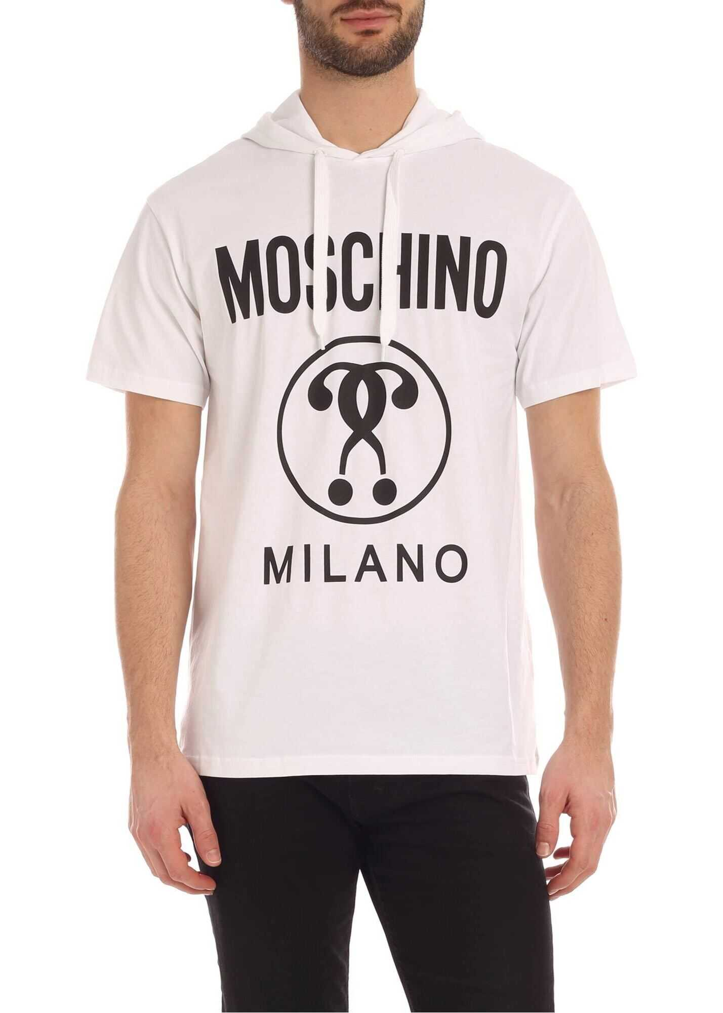 Moschino Double Question Mark T-Shirt In White White