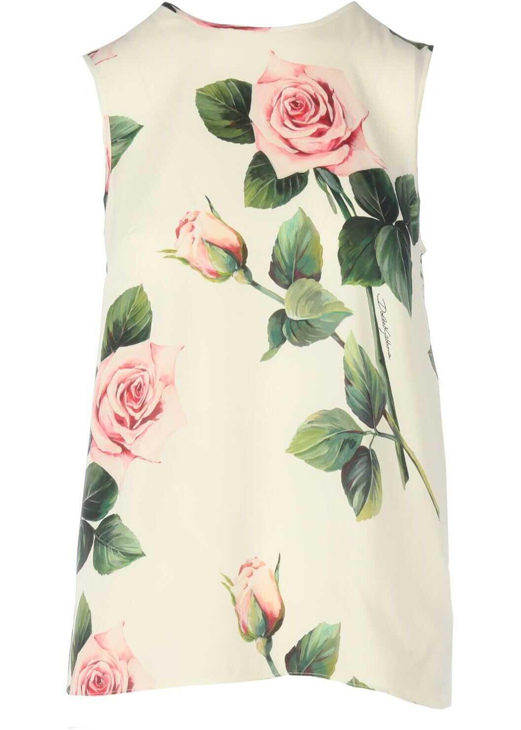 Dolce & Gabbana Silk Blouse WHITE