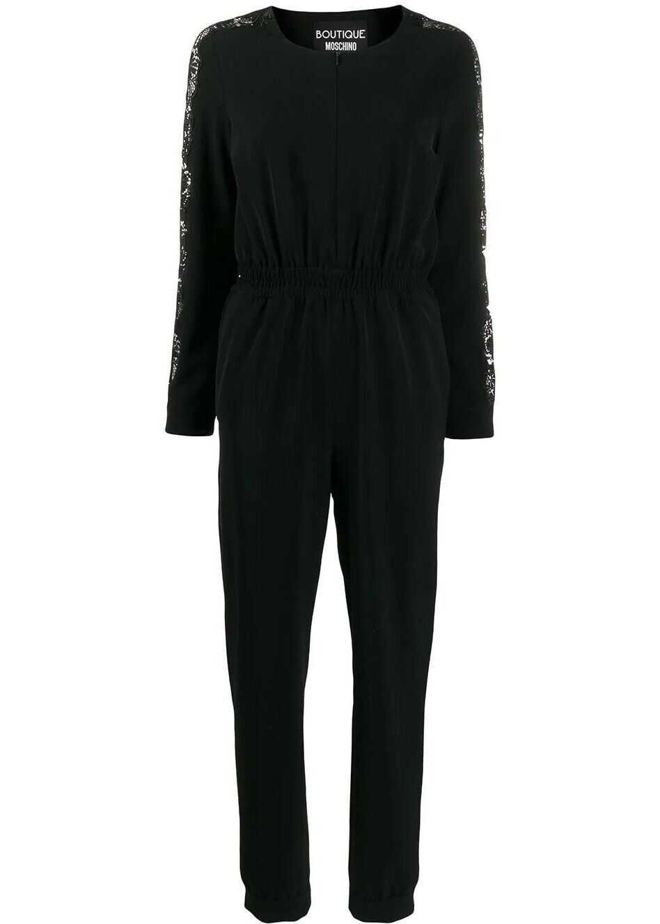 LOVE Moschino Polyester Jumpsuit BLACK