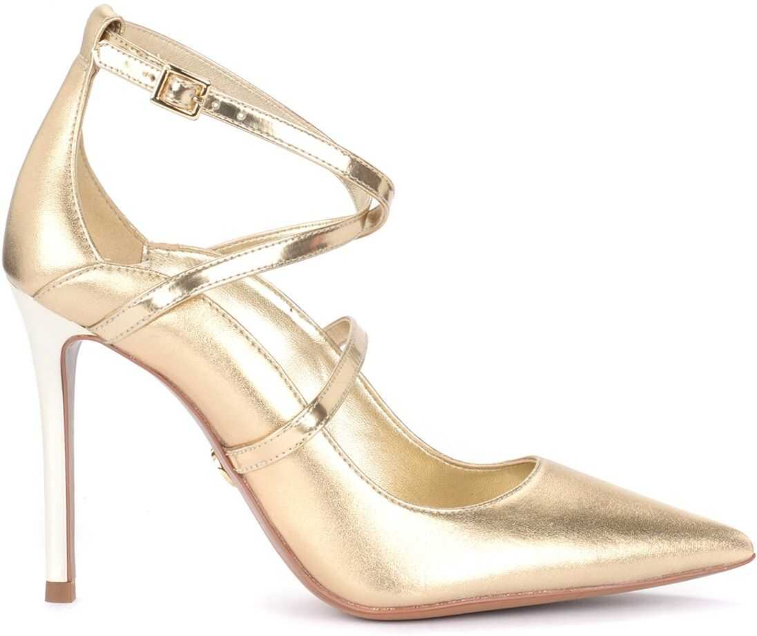 Geneva Decolletè In Gold Laminated Leather thumbnail