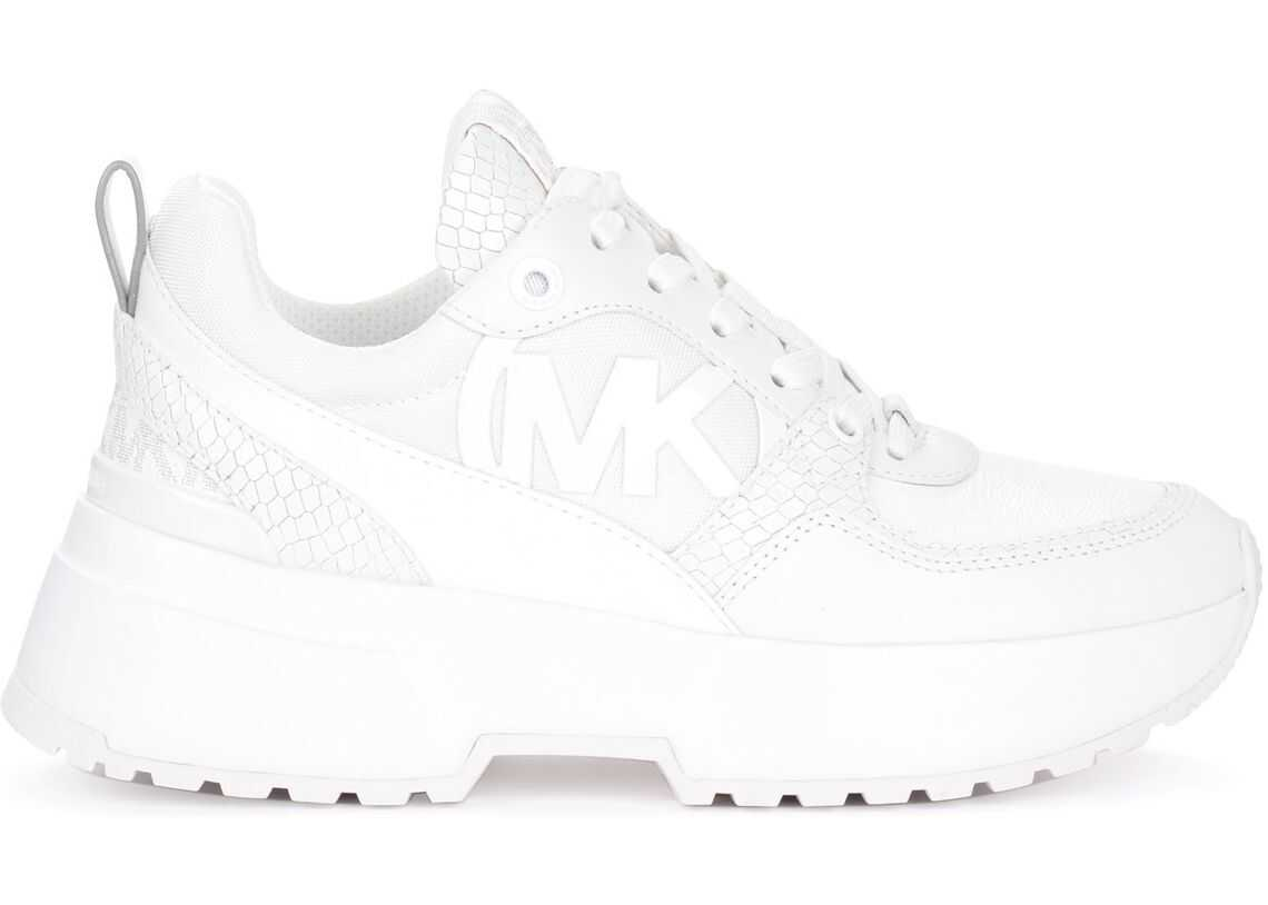 Michael Kors Ballard Sneakers In White Leather And Fabric White