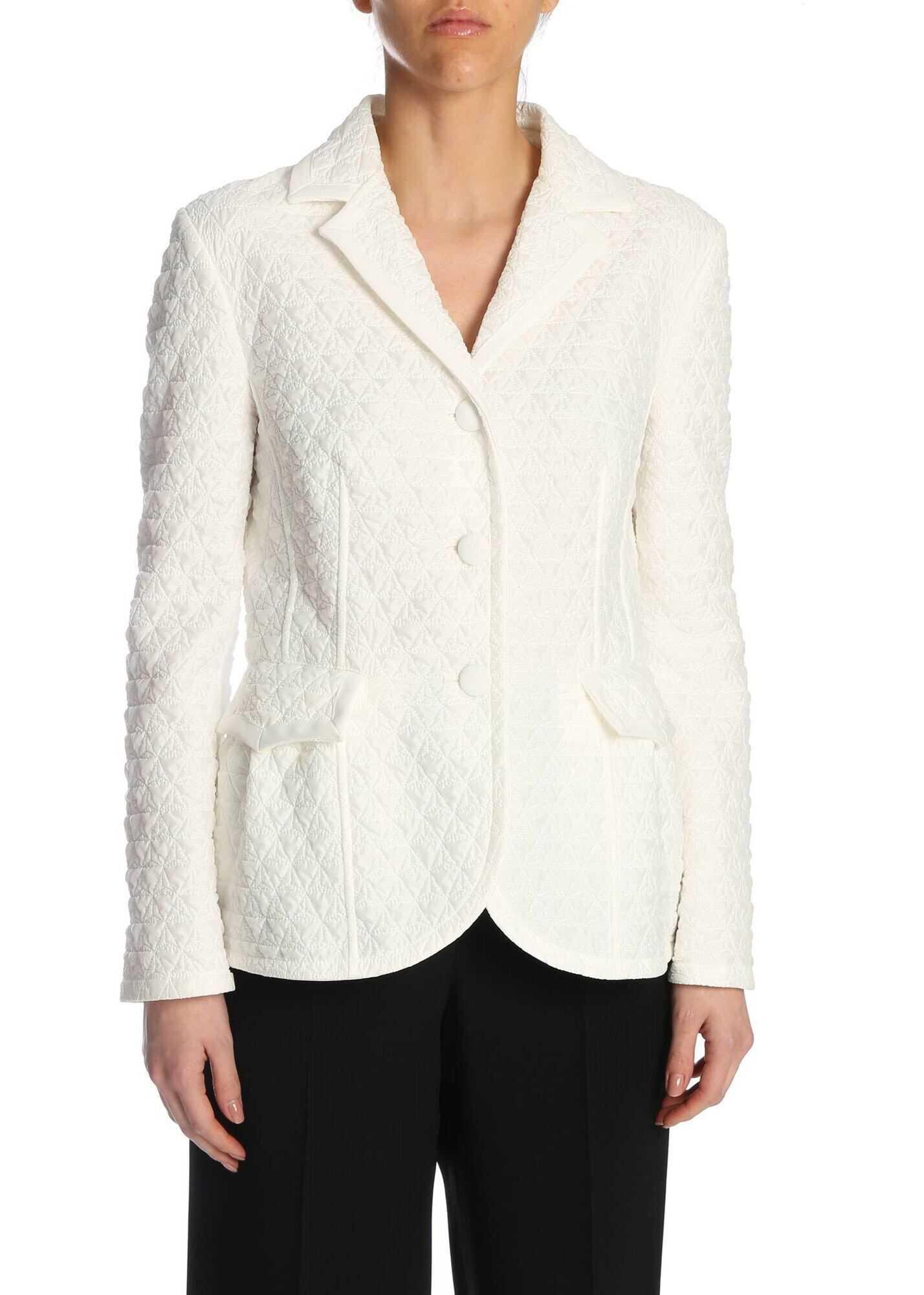 Ermanno Scervino Slimfit Padded Jacket In White White