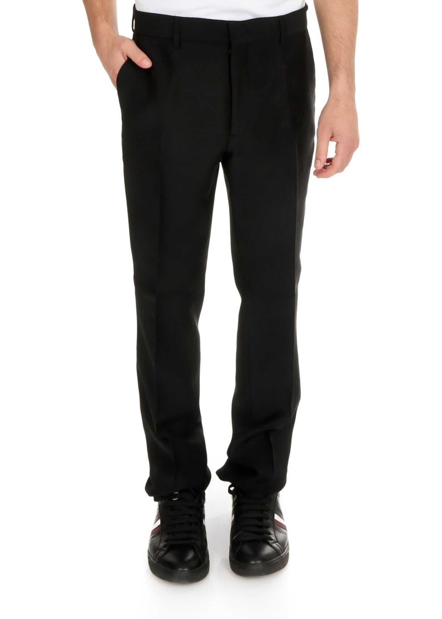 Fendi Suit Pants In Black With Faded Ff Detail Black imagine