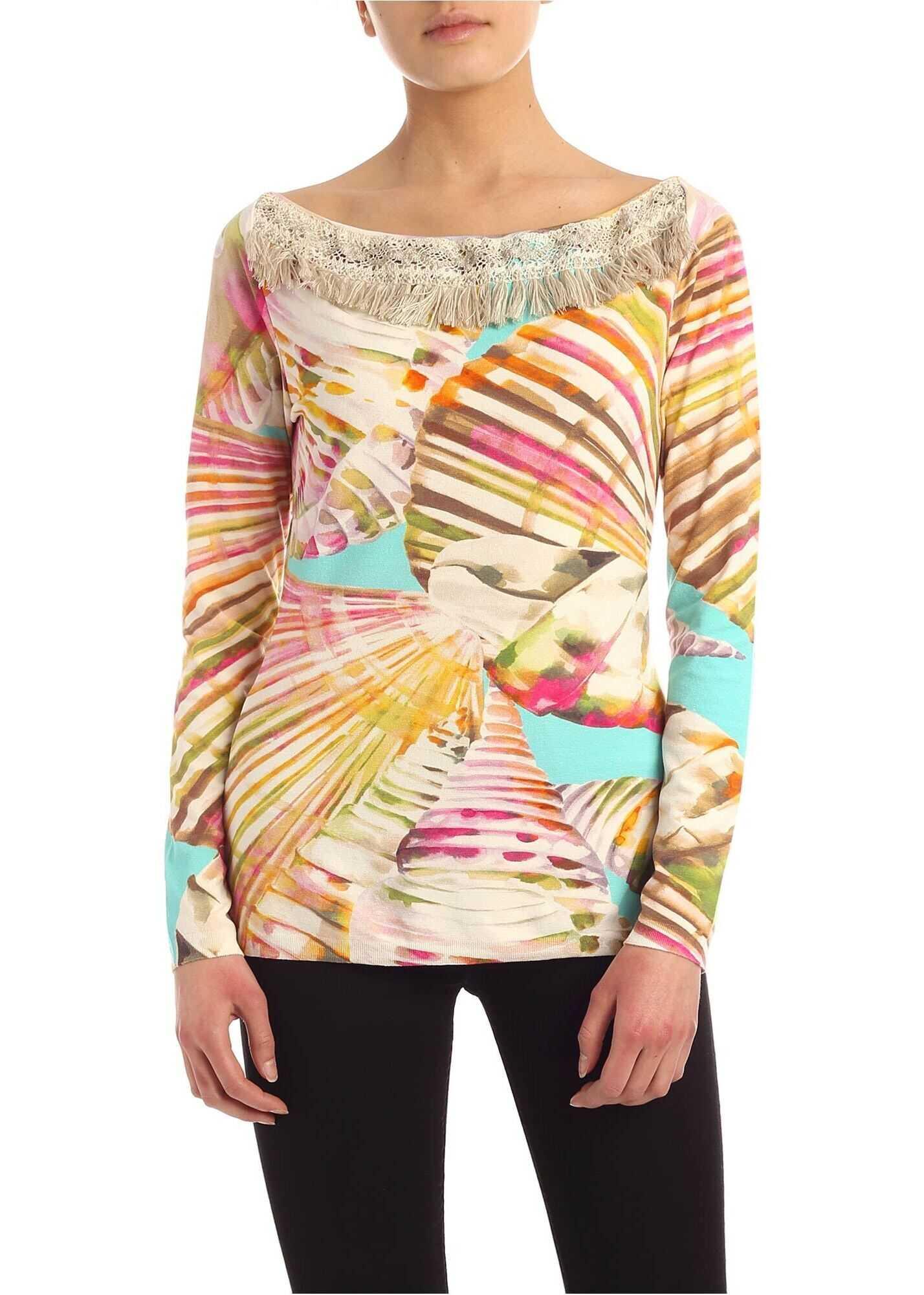 Blumarine Trimmings Multicolor Sweater Multi