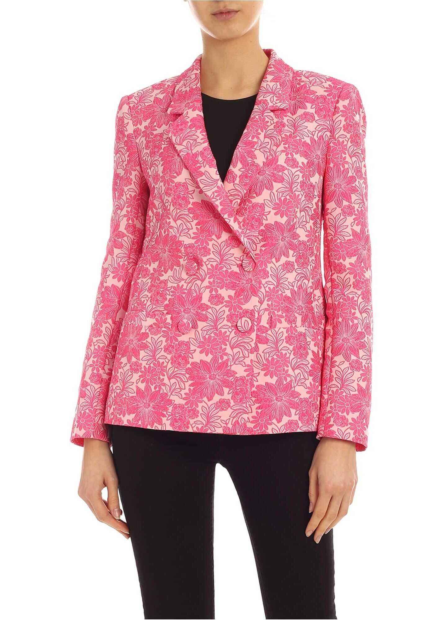 Be Blumarine Damask Pattern Jacket In Pink Pink