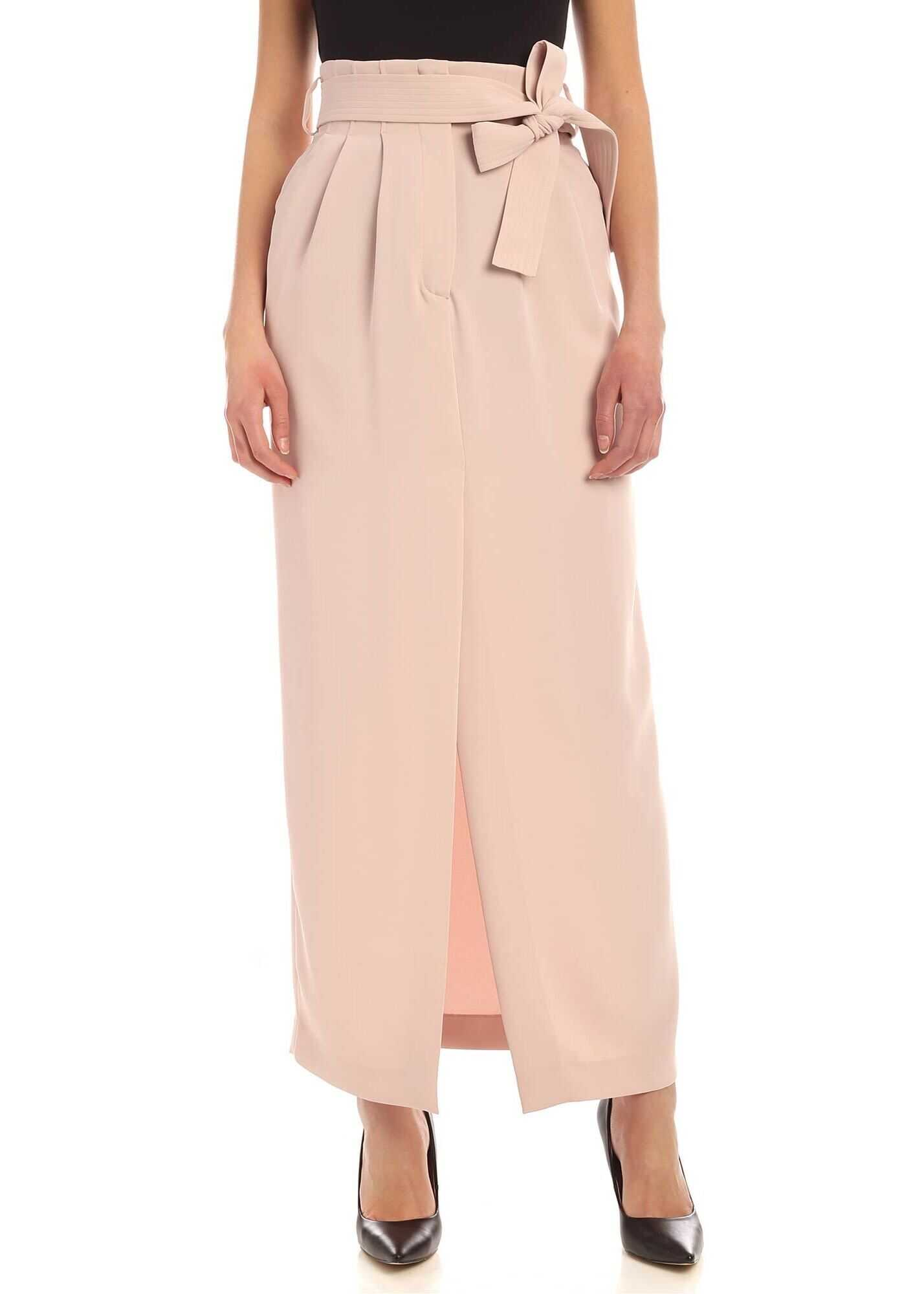 P.A.R.O.S.H. Pleated Skirt In Pink Pink