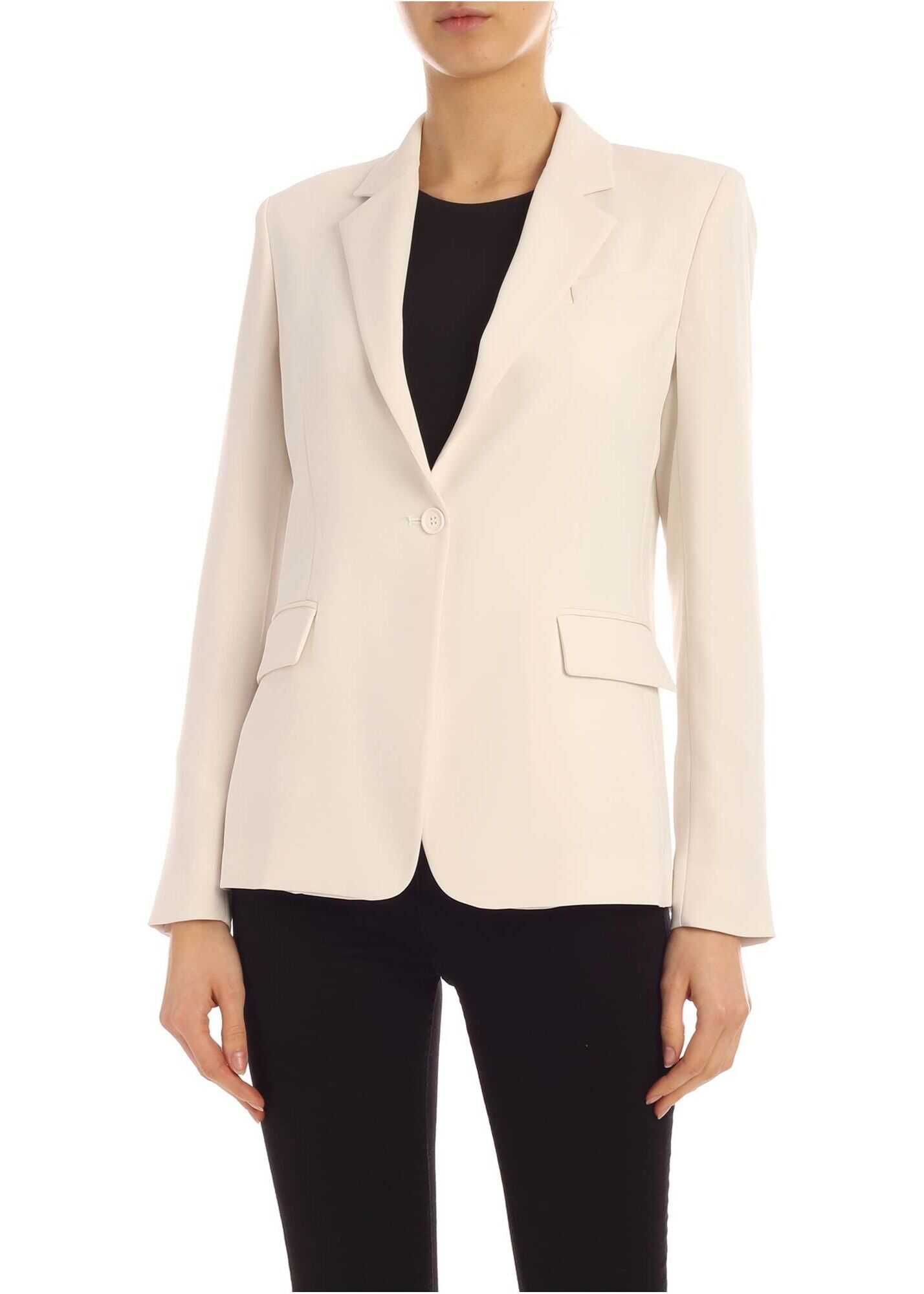 P.A.R.O.S.H. Single Button Jacket In White White
