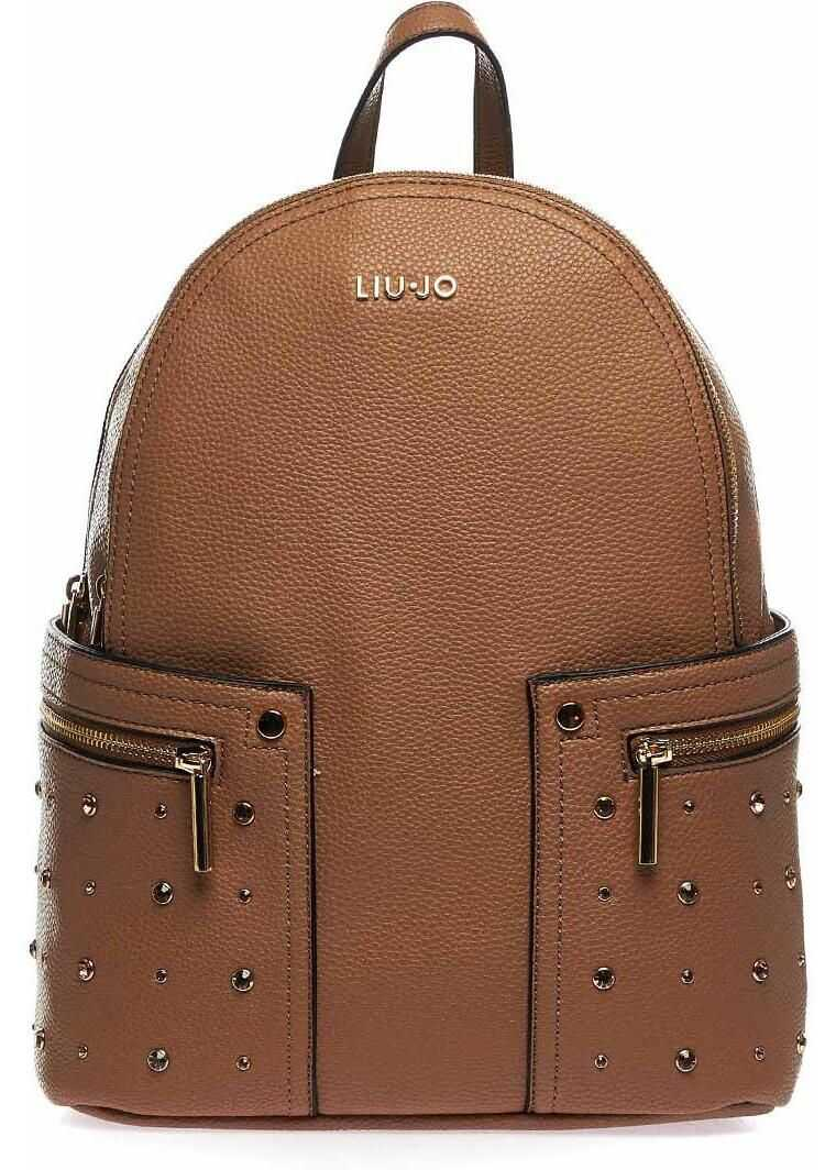 Liu Jo Backpack with star studs Brown