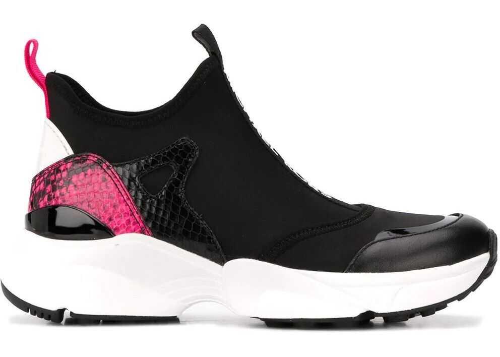 Michael Kors Synthetic Fibers Slip On Sneakers BLACK
