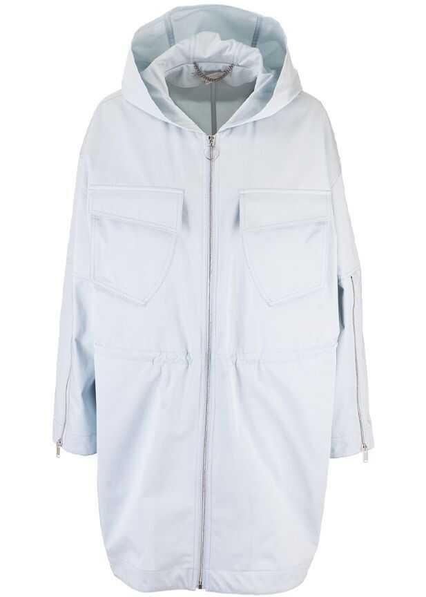 adidas by Stella McCartney Cotton Outerwear Jacket LIGHT BLUE