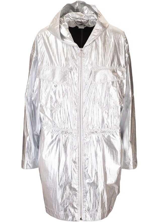 adidas by Stella McCartney Viscose Outerwear Jacket SILVER