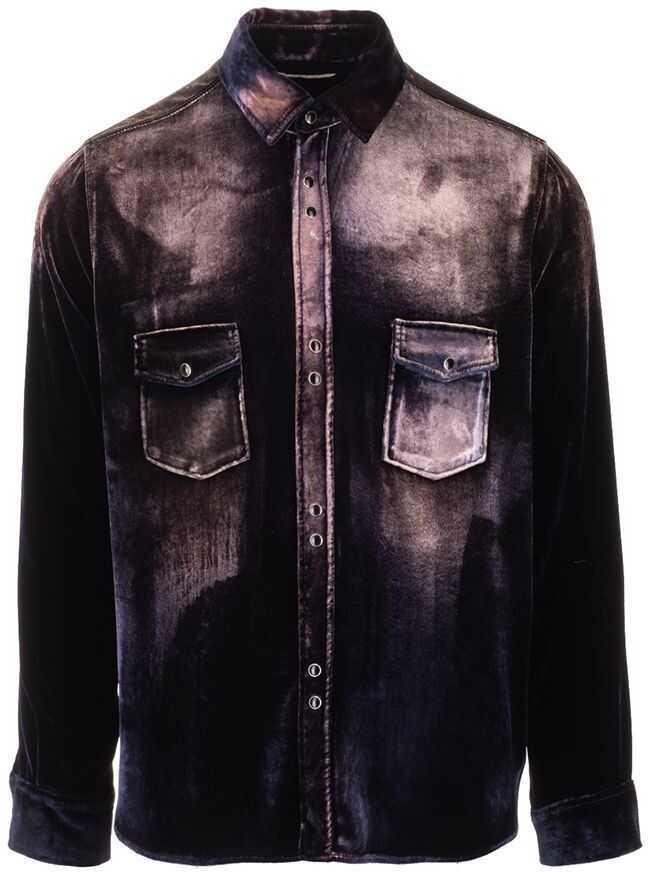 Saint Laurent Viscose Shirt BLACK