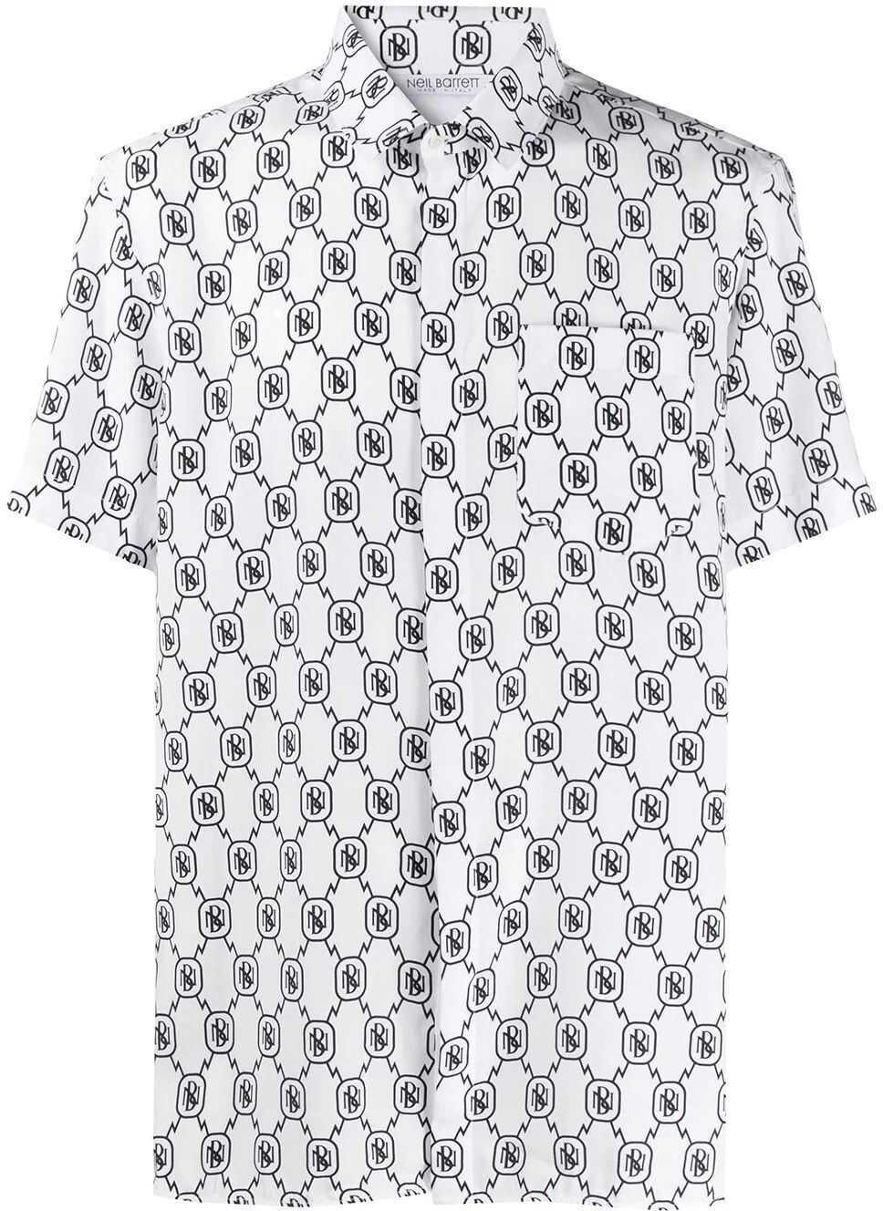 Neil Barrett Polyester Shirt WHITE