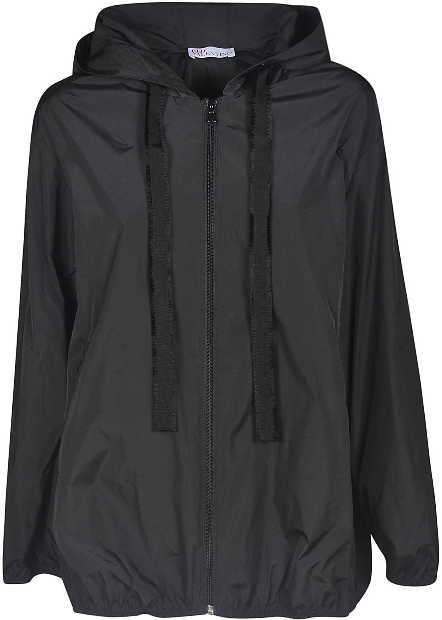 RED VALENTINO Polyester Outerwear Jacket BLACK