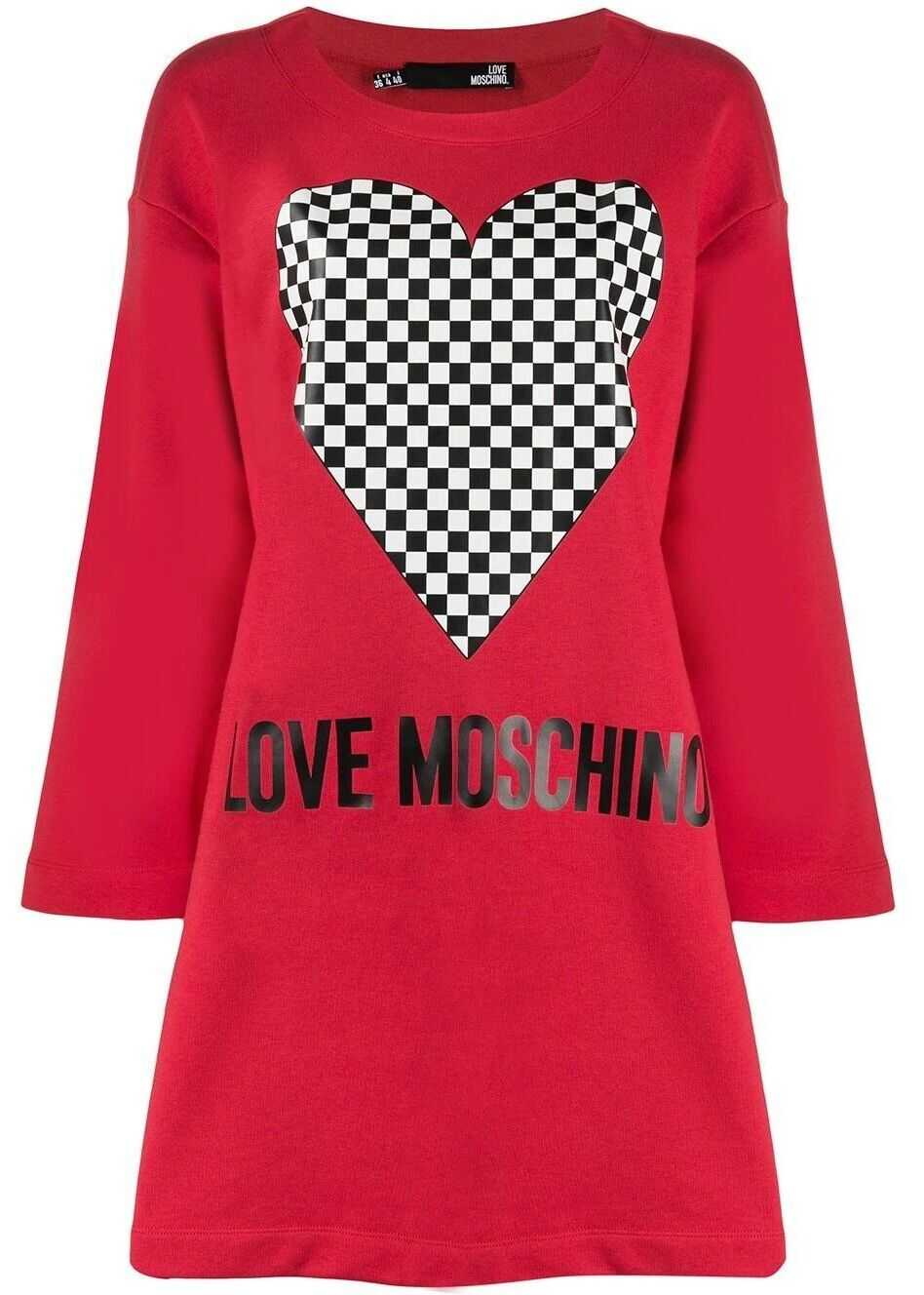 LOVE Moschino Cotton Dress RED