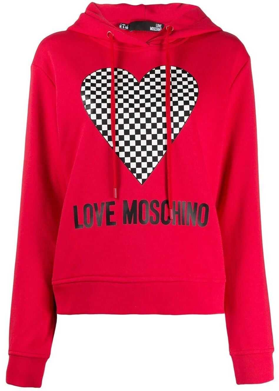 LOVE Moschino Cotton Sweatshirt RED