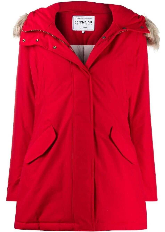 Woolrich Polyamide Outerwear Jacket RED