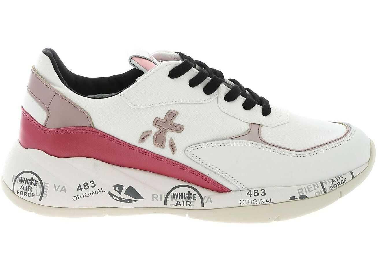 Premiata Scarlett Sneakers In White And Pink White