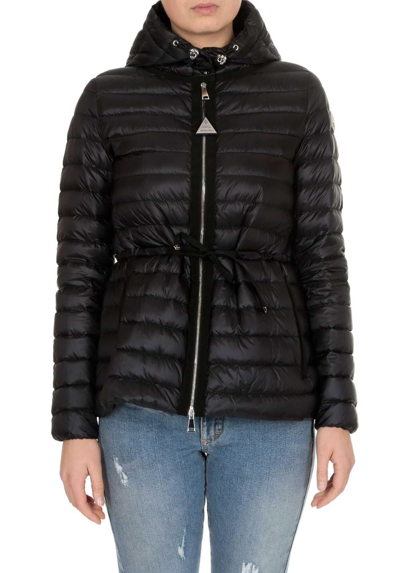 Moncler Raie Down Jacket In Black Black