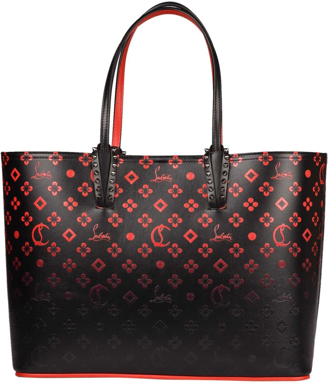 Christian Louboutin Leather Tote BLACK