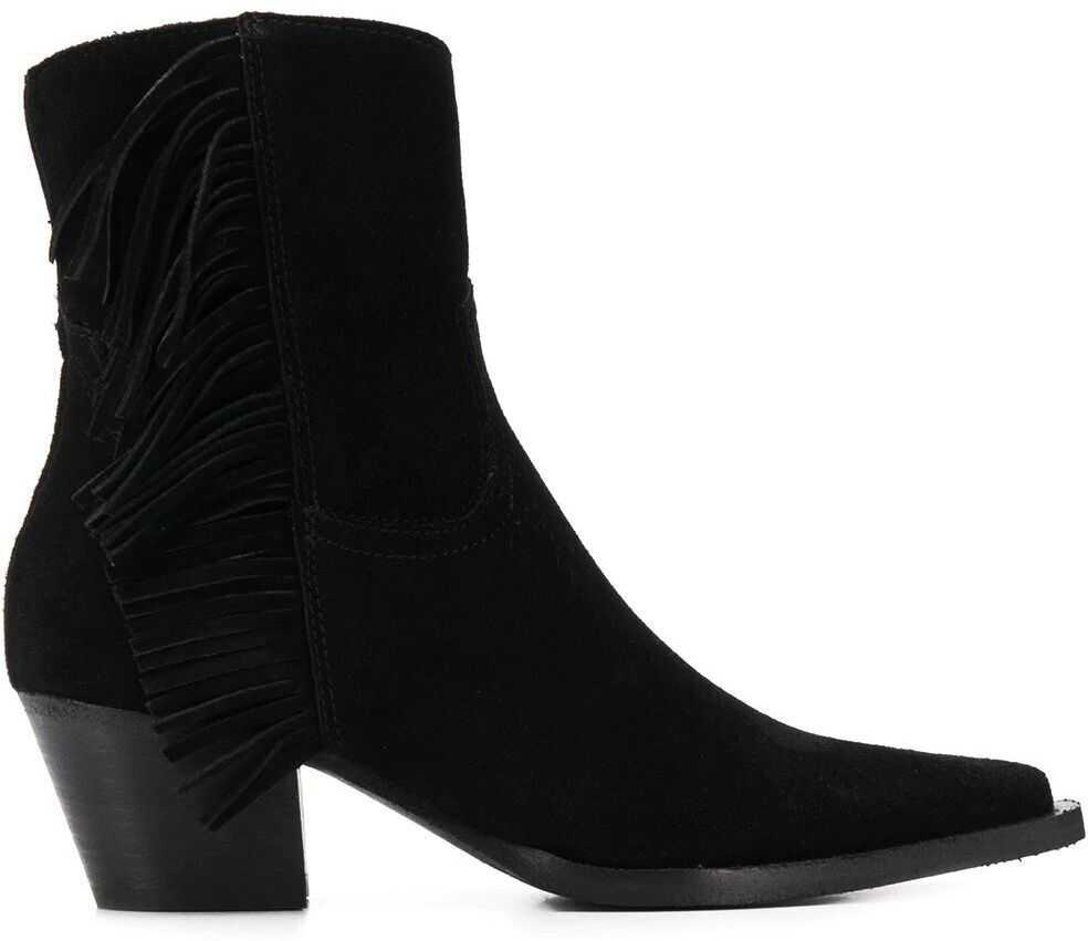 Pinko Suede Ankle Boots BLACK