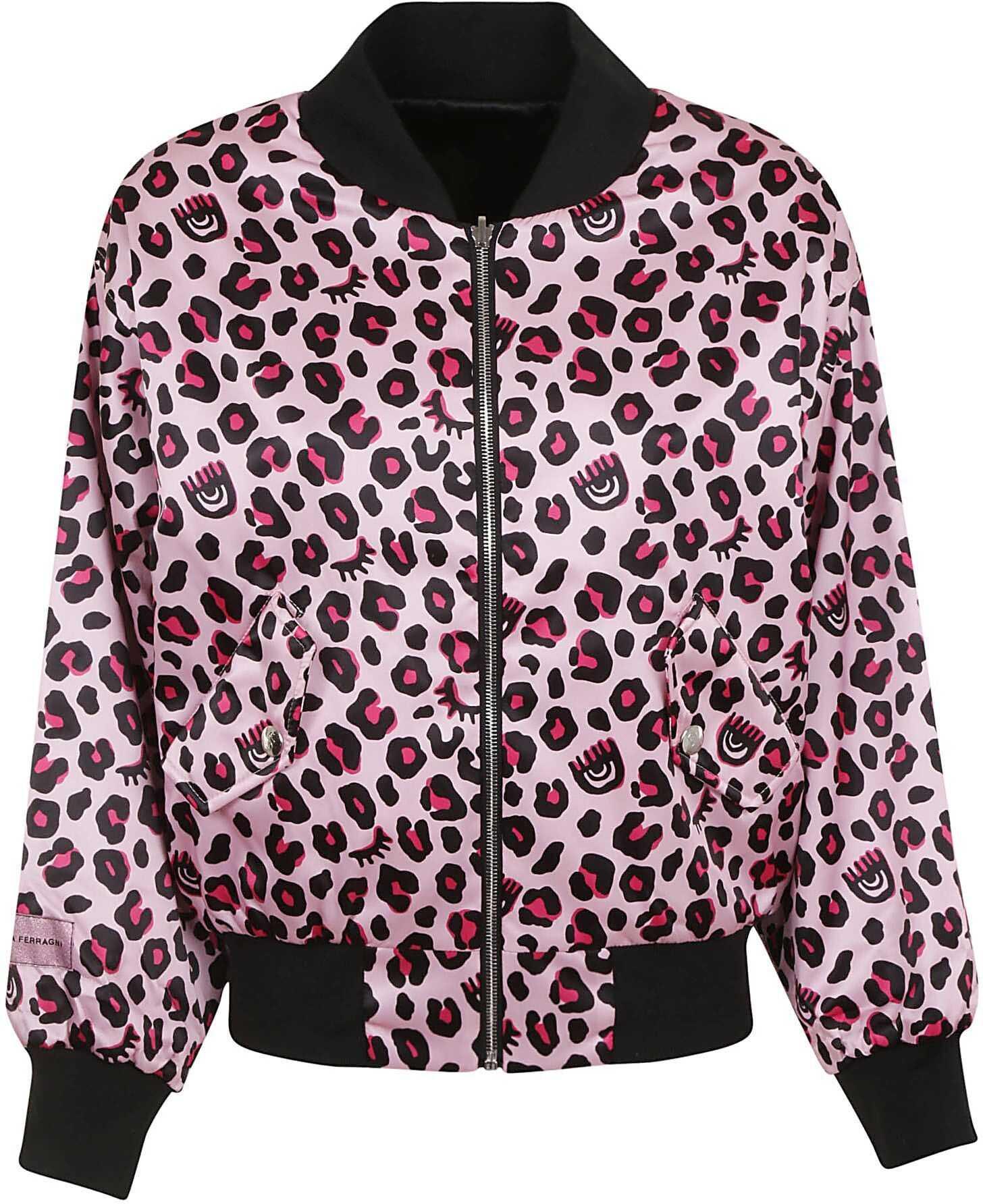 Chiara Ferragni Polyester Outerwear Jacket PINK