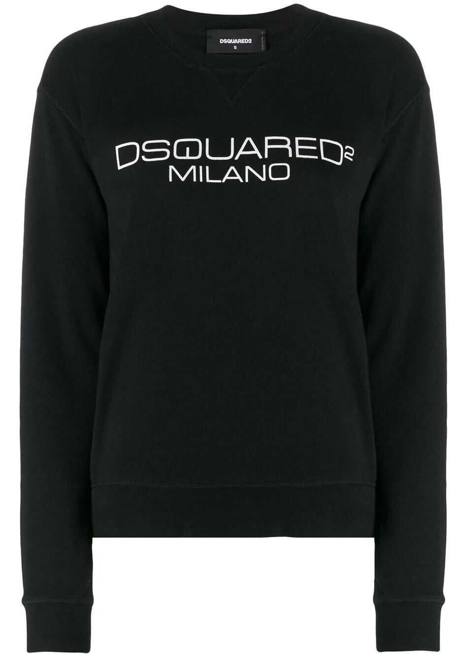 DSQUARED2 Cotton Sweatshirt BLACK