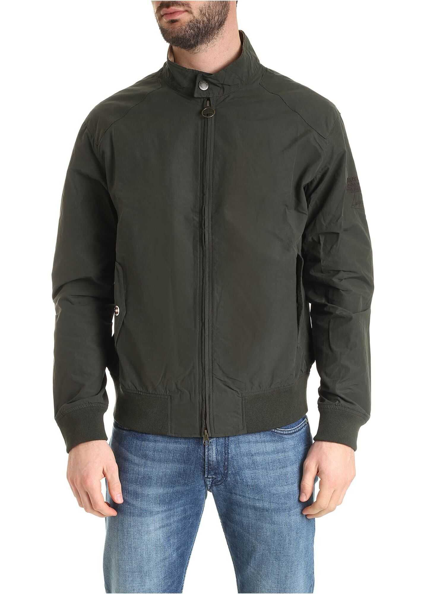 Barbour Rectifier Bomber In Sage Color Green