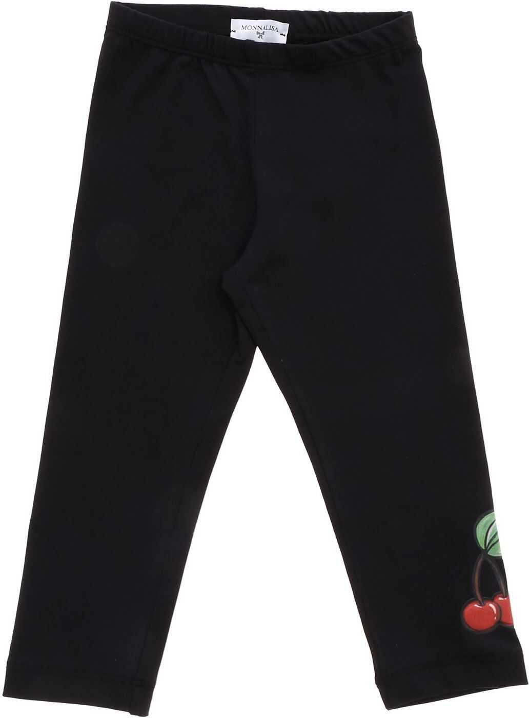 Cherry Print Leggings In Black thumbnail