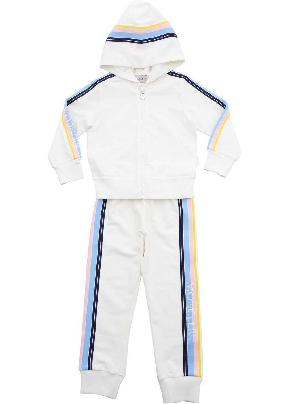 Contrasting Side Bands Jumpsuit In Ivory Color thumbnail