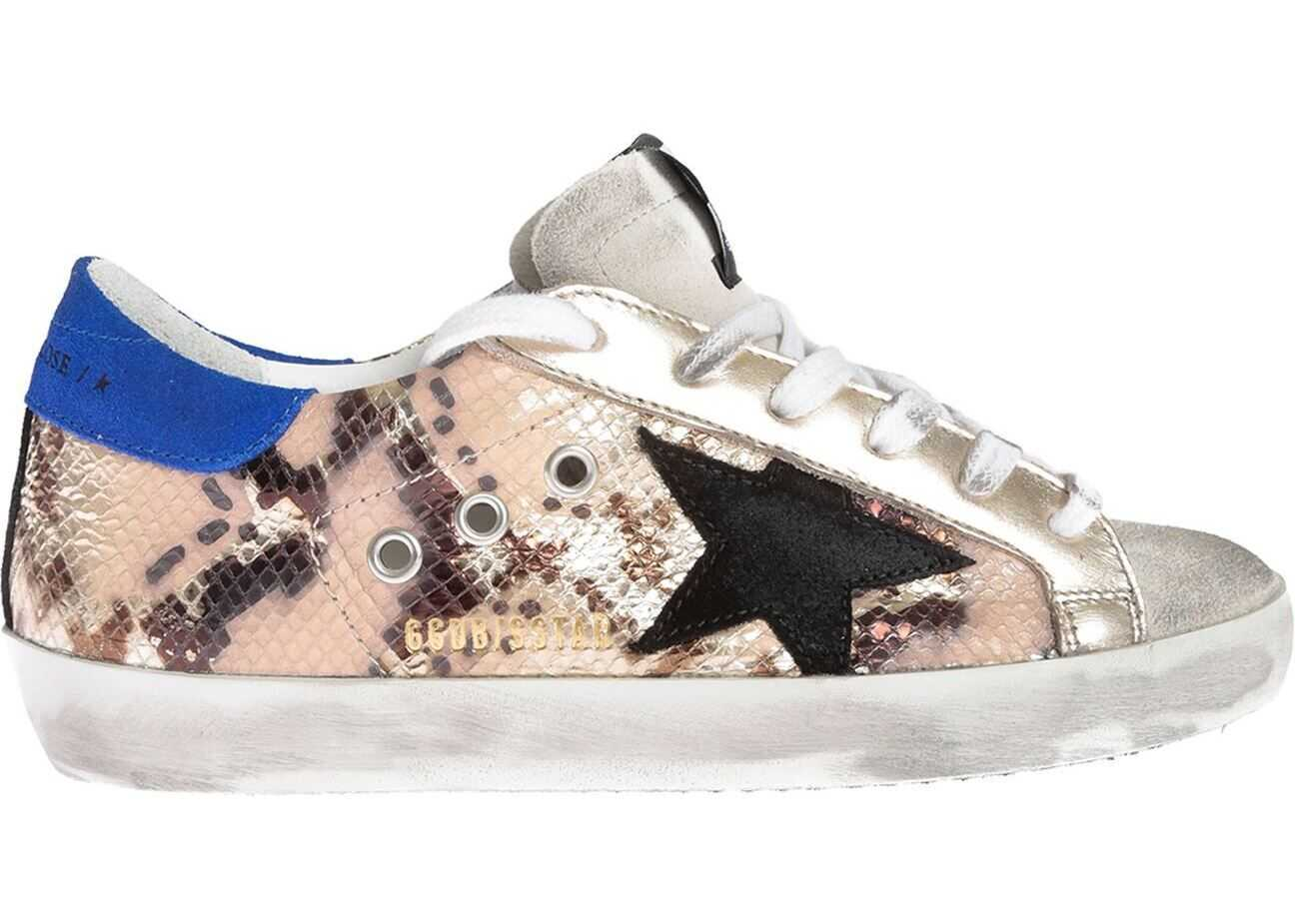 Golden Goose Superstar Python Print Sneakers With Black Star Animal print