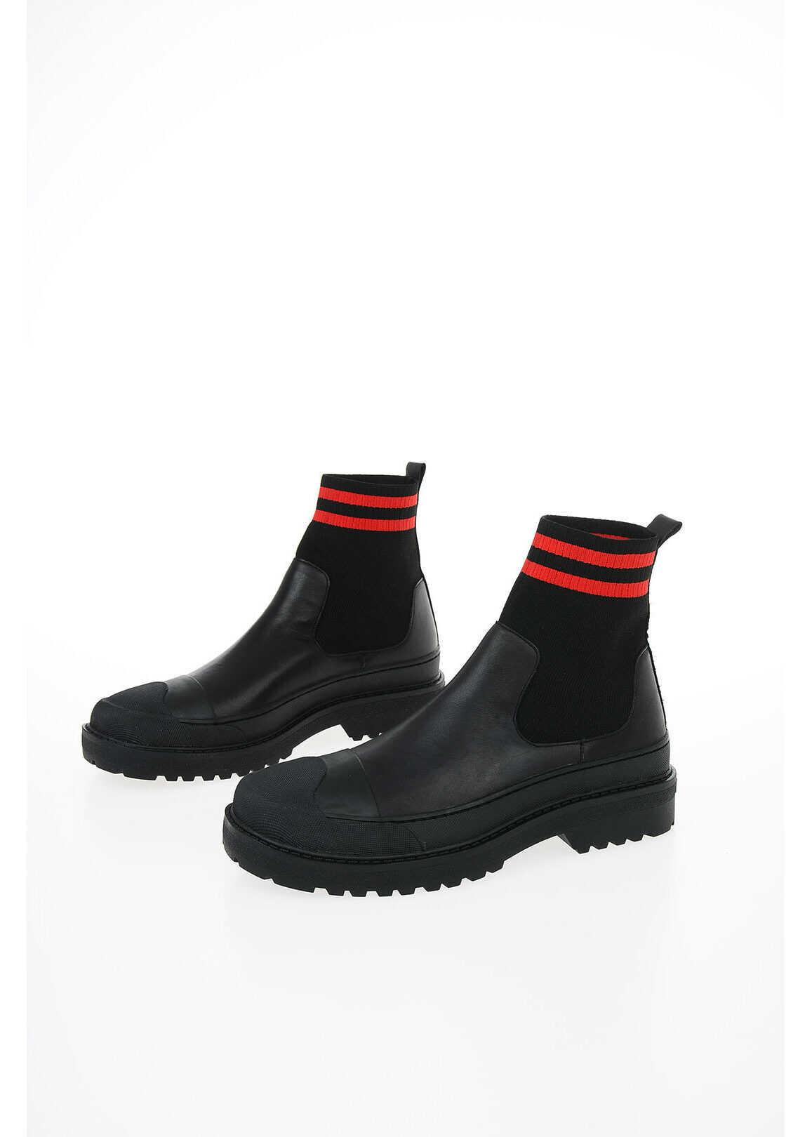Neil Barrett Fabric HYBRID TANK SOCK Ankle Boot BLACK