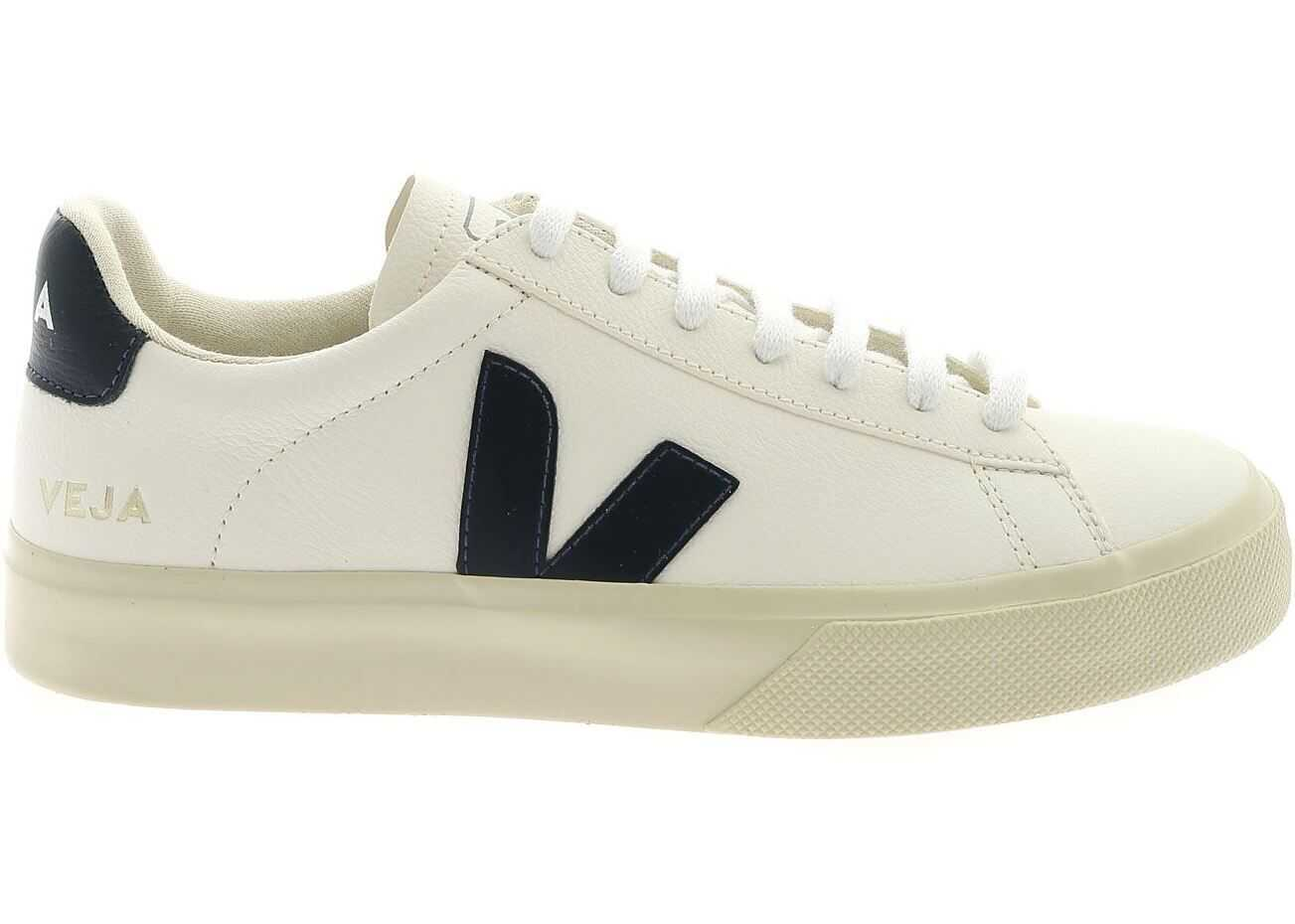 VEJA Campo Sneakers In Ivory And Blue White