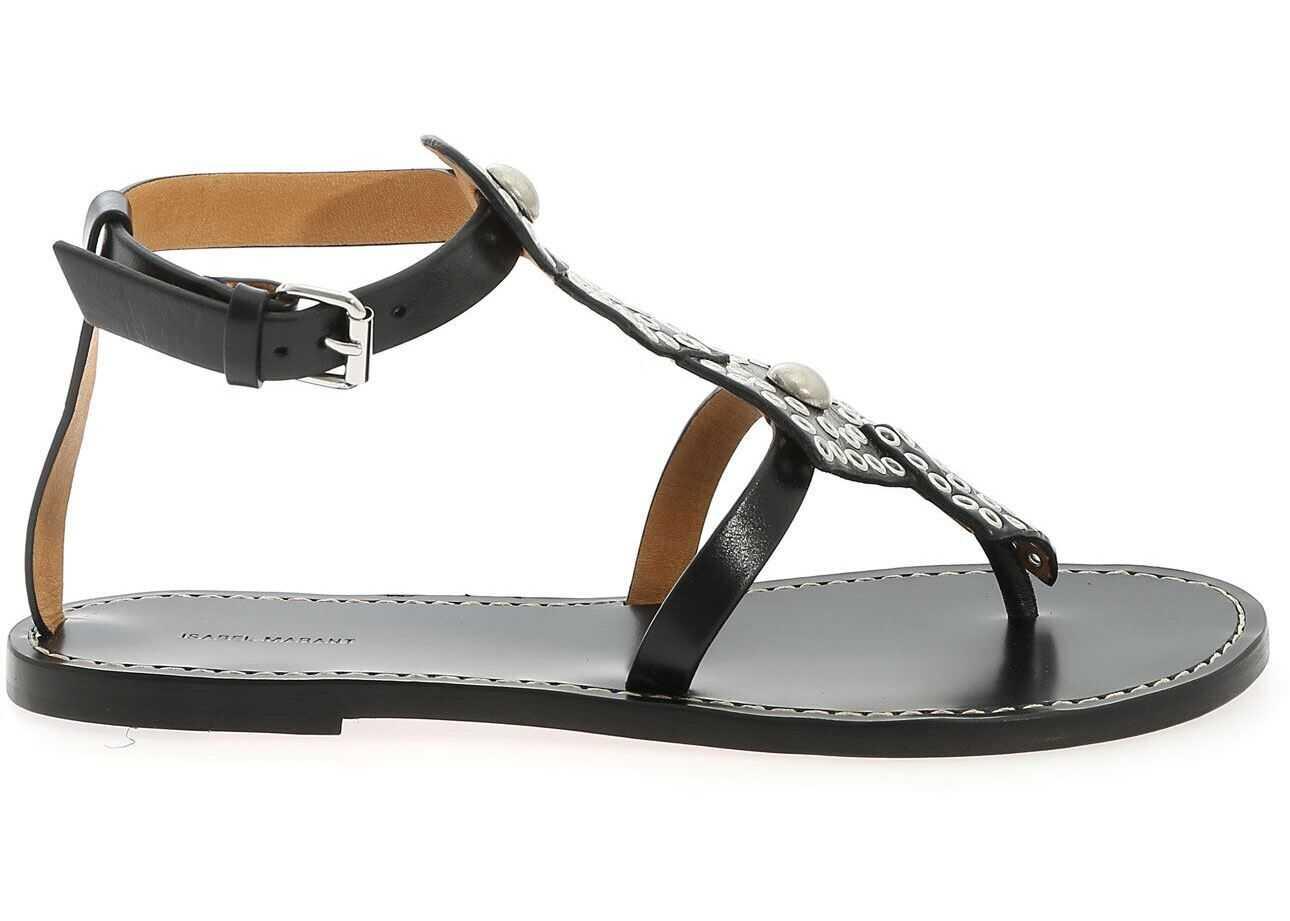 Isabel Marant Ejane Sandals In Black Black