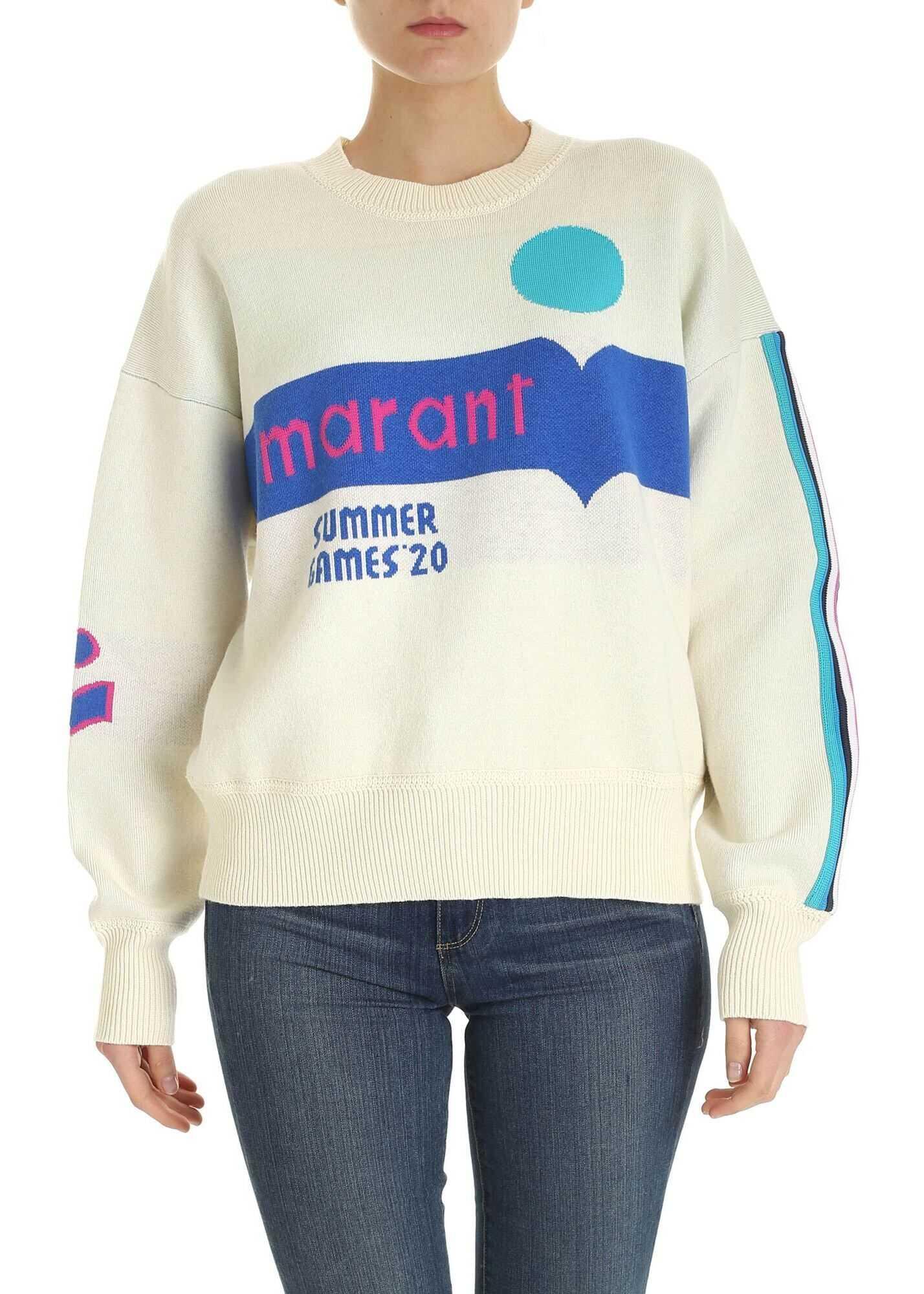 Isabel Marant Kleden Pullover In Cream Color Cream