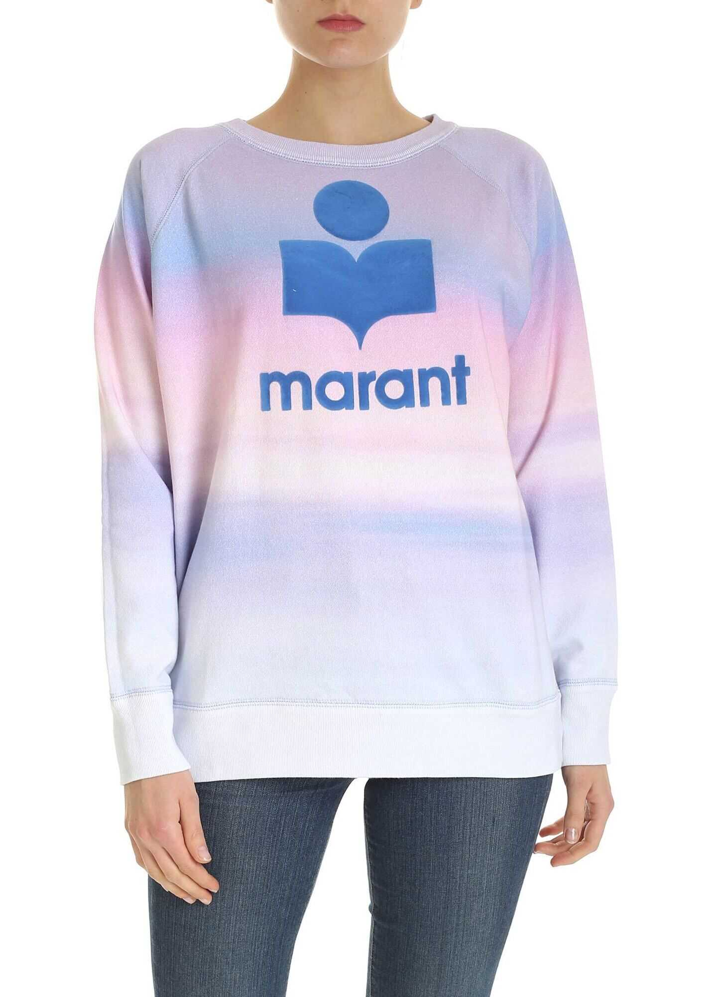 Isabel Marant Milly Sweatshirt In Purple And Pink Purple