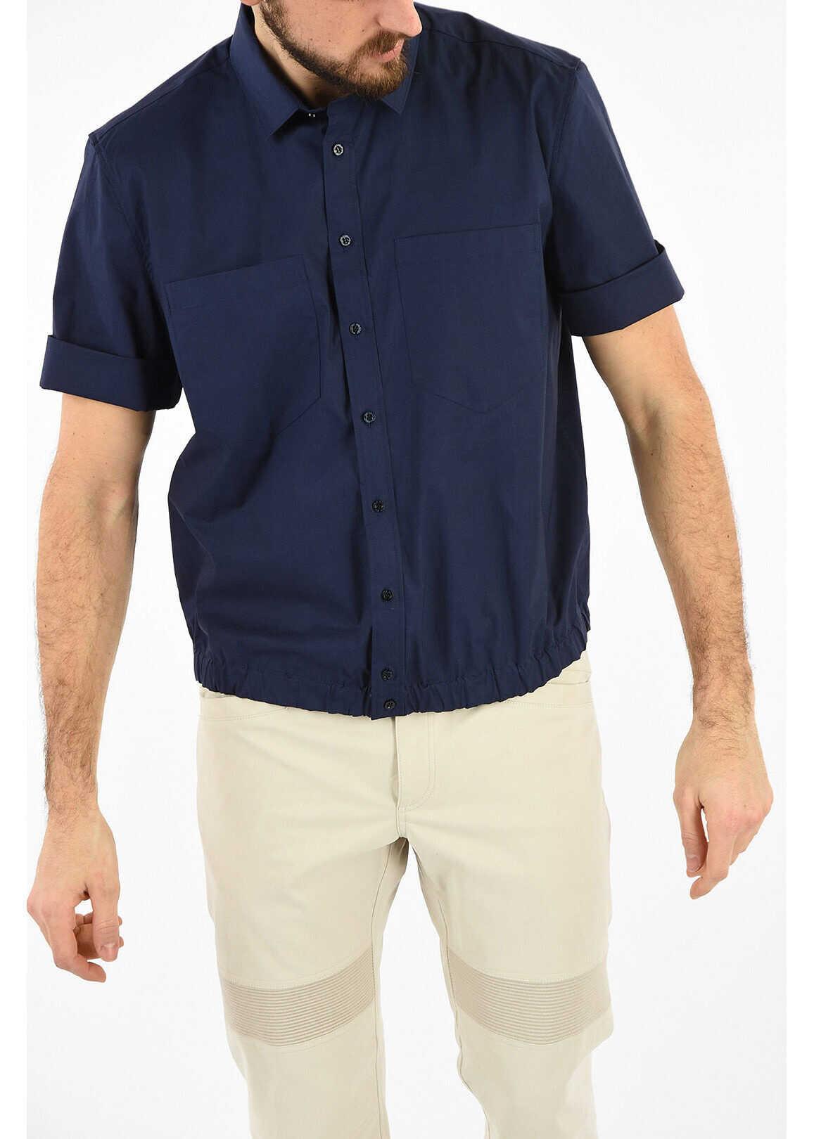 Neil Barrett Loose Blouson Fit Shirt BLUE