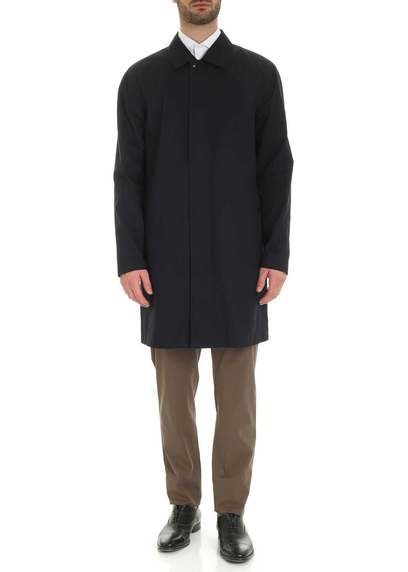 Oversize Overcoat In Blue thumbnail