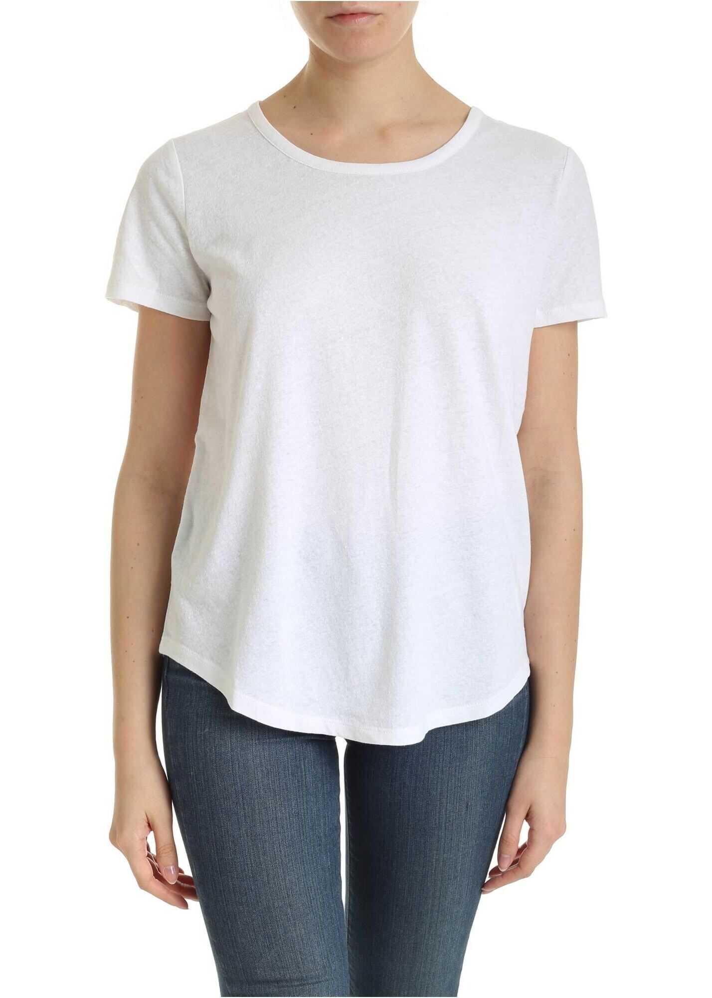 Michael Kors Linen And Cotton T-Shirt In White White