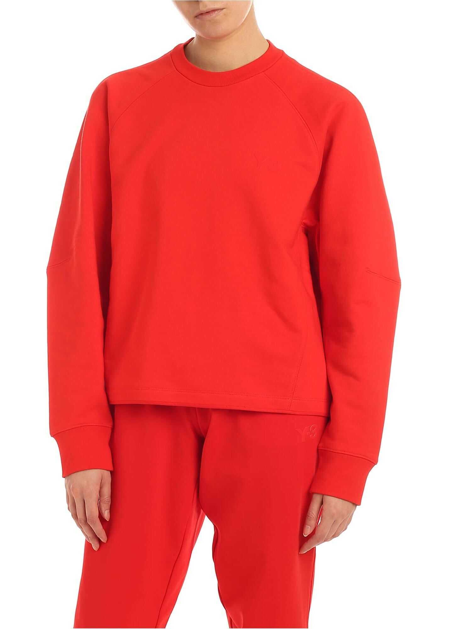 Y-3 Classic Sweatshirt In Red Red