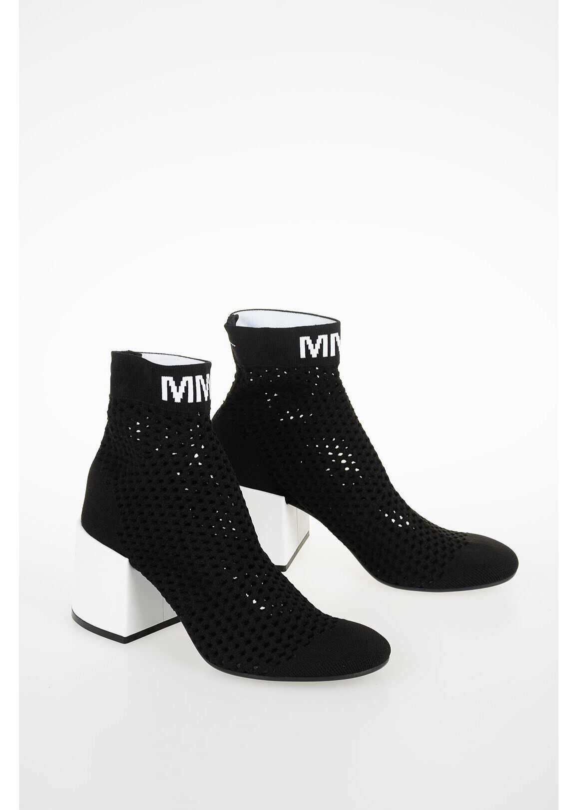 Maison Margiela MM6 7cm Openwork Ankle Boot BLACK