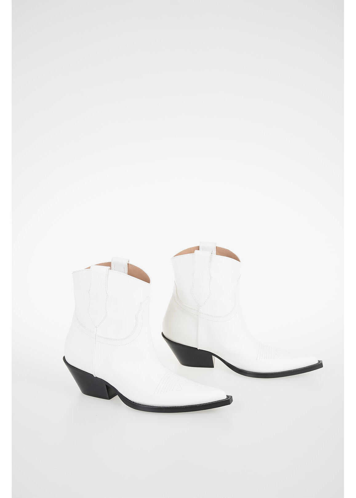 Maison Margiela MM22 6cm Leather Ankle Boot WHITE