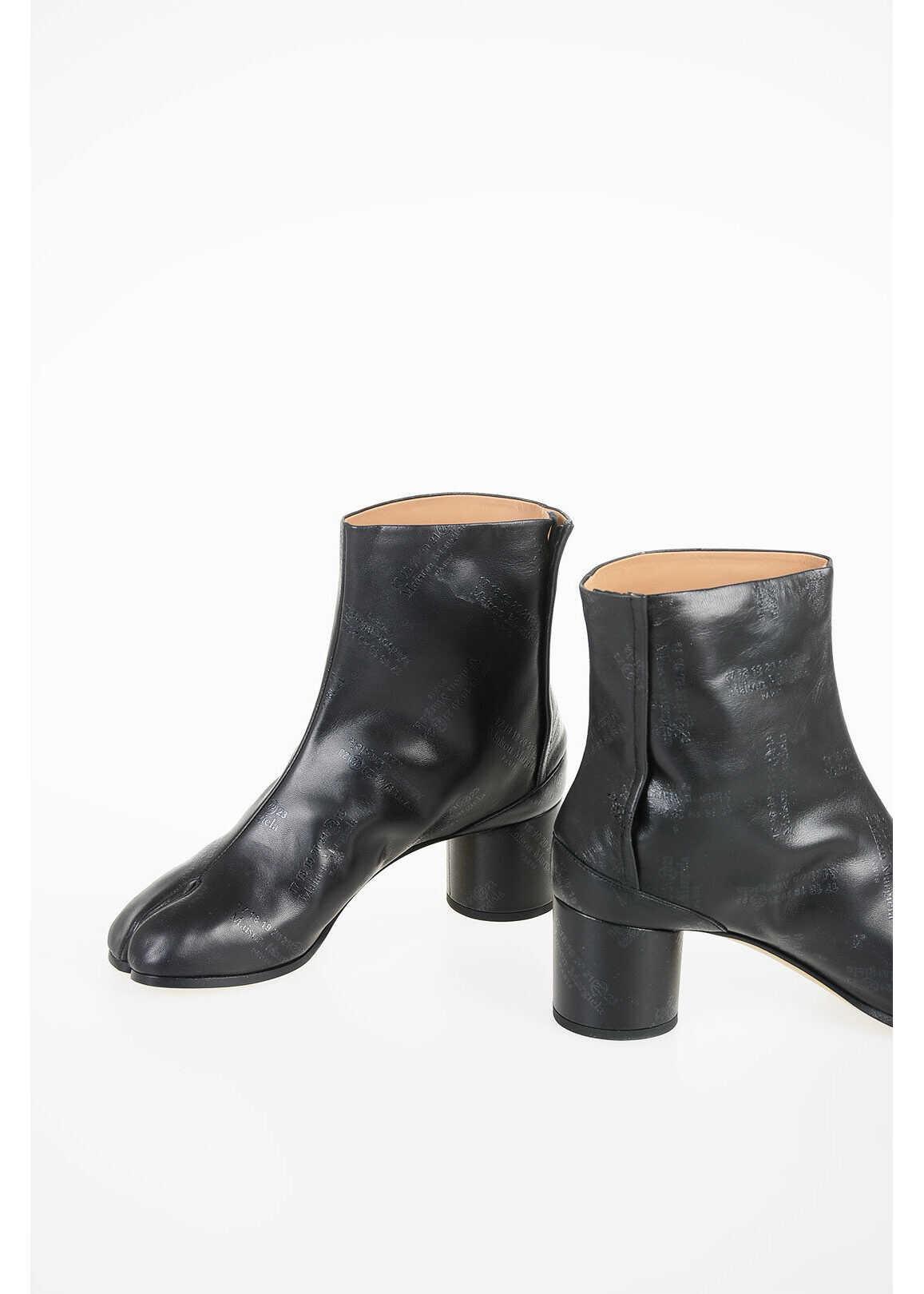 Maison Margiela MM22 6cm Leather Ankle Boot BLACK