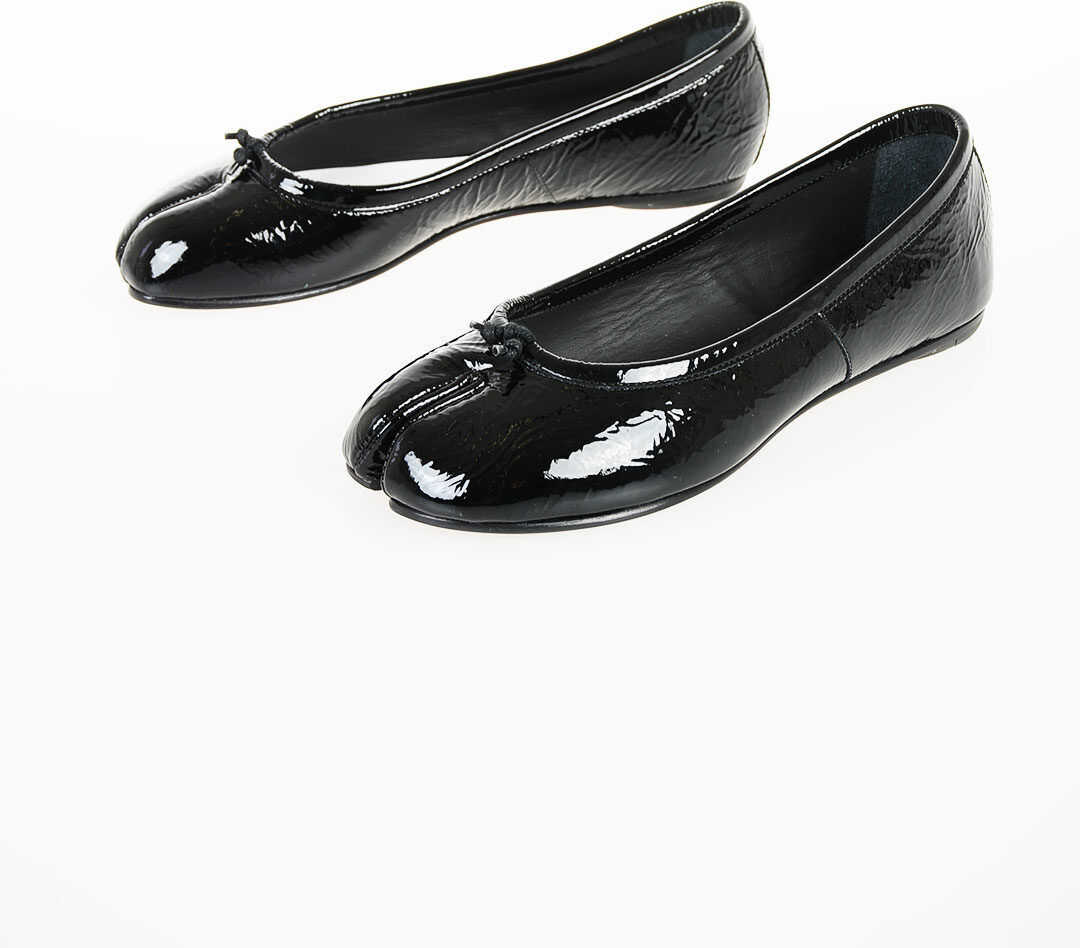 Maison Margiela MM22 Patent Leather Ballet Flat BLACK