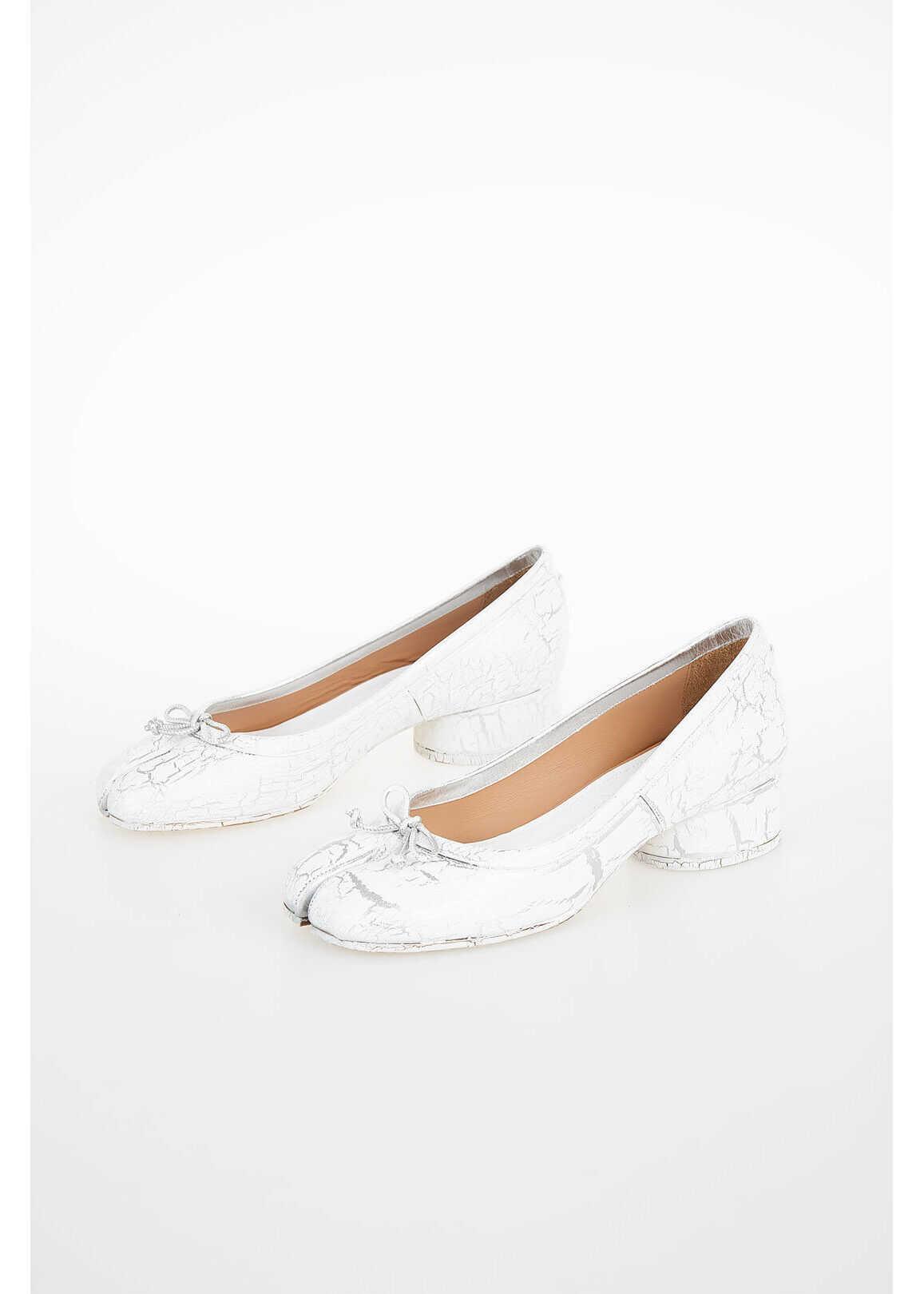 Maison Margiela MM22 Leather Ballet Flat WHITE