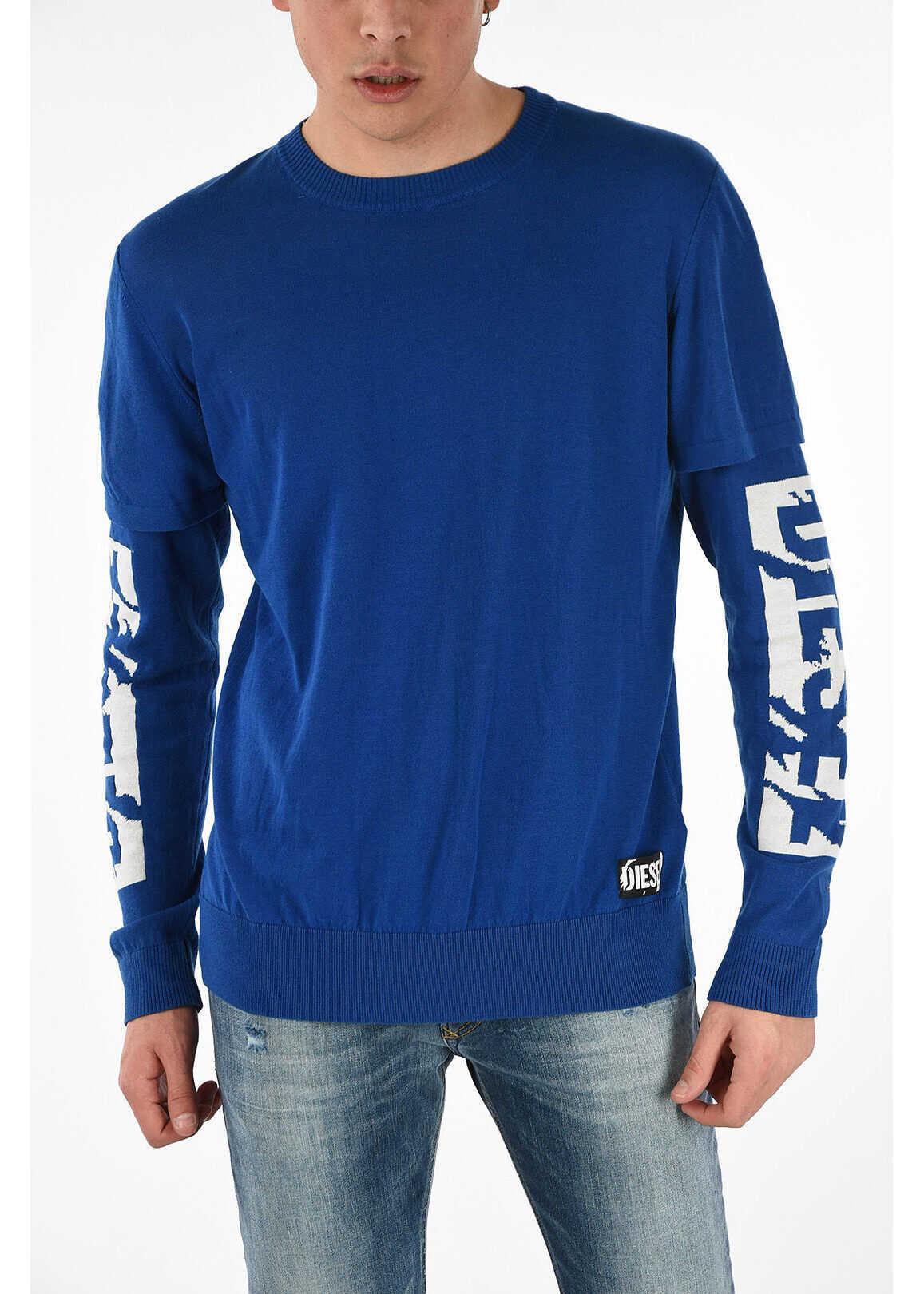 Diesel Round Necked K-BETTE Sweater BLUE imagine